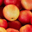 Background of the red apples — Stock Photo