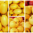 Collection of yellow fruit backgrounds — Stock Photo