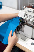 Work at the sewing machine — Stock Photo
