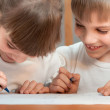 Stock Photo: Children draw
