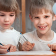Foto Stock: Kids drawing pen