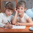 Children drawing on paper — Stockfoto #22328933