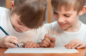 Children draw — Stock Photo