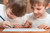 Crianças desenhar — Foto Stock