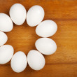 Eggs are laid on the table - Stock Photo