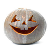 Festive Halloween carved pumpkin — Stock Photo