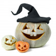 Stock Photo: Holiday carved pumpkin halloween