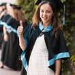 University graduate with a diploma — Stock Photo