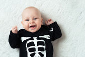 Baby dressed skeleton — Stock Photo