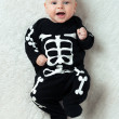 Stock Photo: Baby dressed skeleton