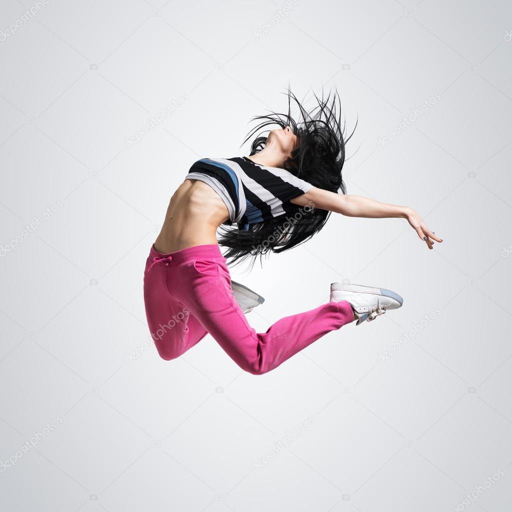 Сексуальная девушка прыгает 5 фотография