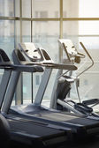 Racing simulators in the gym — Stock Photo