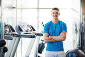 Trainer at the gym — Stock Photo