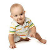 Baby creepson a white background — Stock Photo