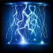 Stock Vector: Vector lightning flash strike background
