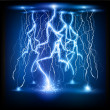 Vector lightning flash strike background — Stock Vector