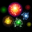 Fireworks Vector Background - Stock Vector