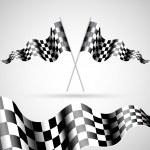 Checkered Flags — Stock Vector