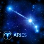 Horoscope star sign - aries constellation — Stock Vector