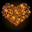 Royalty-Free Stock Vector Image: Vector shining gear heart background