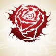 Vintage Rose tribal vector - Imagen vectorial