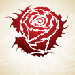 Vintage Rose tribal vector - Stockvektor