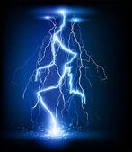 Vector lightning flash strike background — Stock Vector