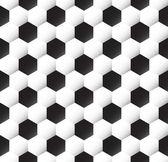 Seamless soccer ball texture — Stock Vector
