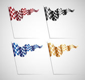 Checkered Flags Set — Vetorial Stock