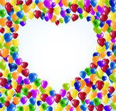 Vector Heart shape balloons — Stock Vector