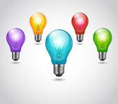 Vector Colorful Bulbs — Stock Vector