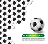 Voetbal vector achtergrond — Stockvector