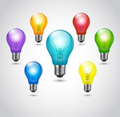 Vektor bunte Lampen — Stockvektor