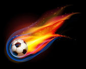 Fire Football soccer ball vector — Stock Vector