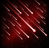Comet meteor shower vector background — Stock Vector