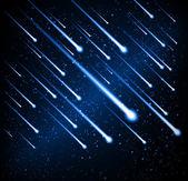Vector meteor shower — Stock Vector