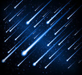 Vector meteor shower — Stock Vector