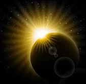 Vektor solförmörkelse — Stockvektor