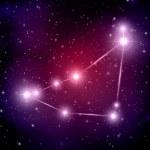 yıldızlar ve Oğlak takımyıldızı — Stok Vektör #50409461