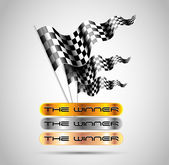 Checkered flags abstract background — Vetorial Stock
