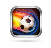Voetbal voetbal pictogram — Stockvector
