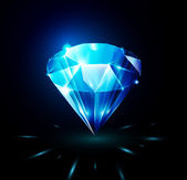 Shining diamond — Vector de stock
