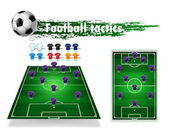 Tactical Soccer field — Stock Vector