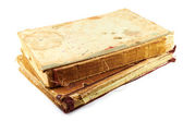 Ancient books.Old battered books on a white background — Stockfoto