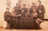 Old wartime photo — Stock Photo