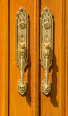 Cerrar una moderna manija de puerta — Foto de Stock