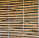Bamboo curtain on the windows — Stock fotografie