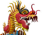 Chinese style dragon statue at chonburi — Stock Photo