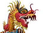 Chiński posąg smoka stylu na chonburi — Zdjęcie stockowe