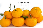 Ripe orange isolated on white background — Stock Photo